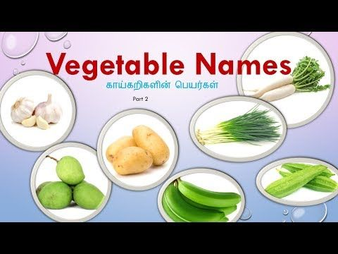 Vegetables Name With Images In Tamil And English This Post Help
