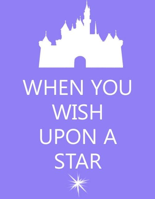 When you wish upon a star -