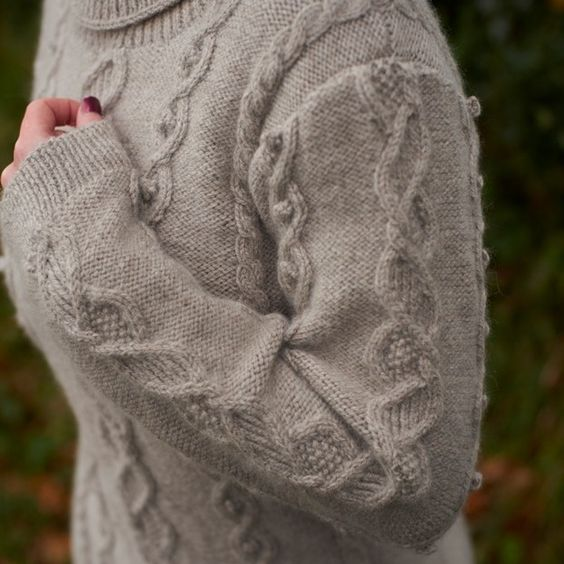 Blacker Swan Cable Pullover knitting pattern | Blacker Yarns