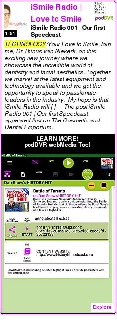 #TECHNOLOGY #PODCAST  iSmile Radio | Love to Smile    iSmile Radio 001 | Our first ?Speedcast?    LISTEN...  http://podDVR.COM/?c=2a650f9a-5a62-842f-15ad-c13d6f2f252b