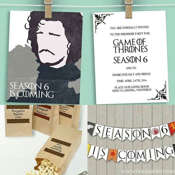 Printable Game of Thrones Party Decor
