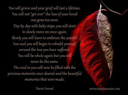 You will grieve and ...