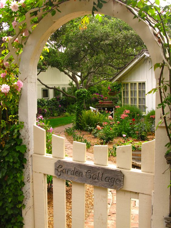 Cottage Charm - My dream home, dream garden and dream entrance complete with climbing roses.: