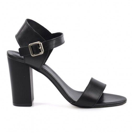 70er Sandaletten - schwarz