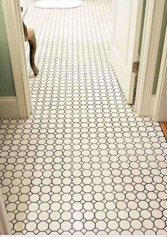 Daltile Octagon And Dot Tile From Home Depot Much Less