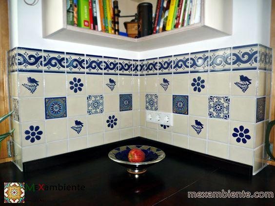 Fliesenspiegel Für Küche mexambiente fliesen für ihren fliesenspiegel in der küche handbemalte fliesen aus mexiko