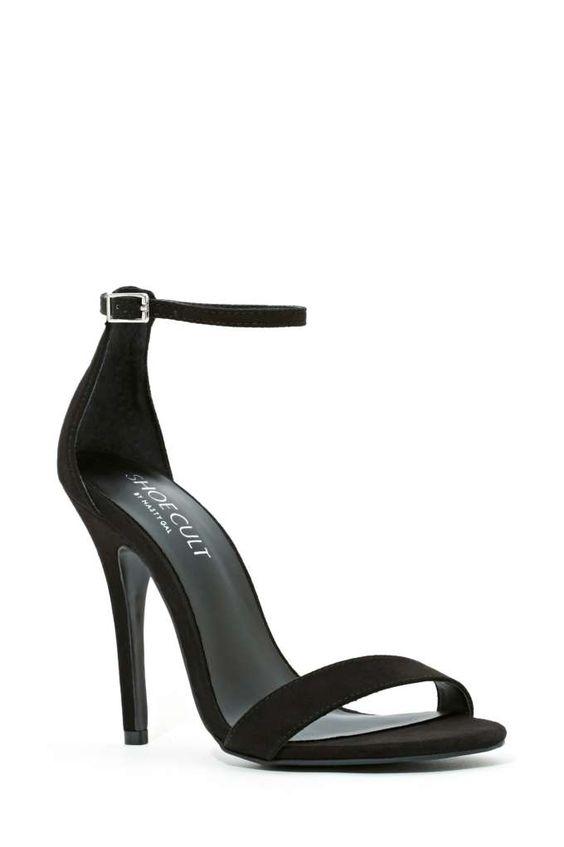 Shoe Cult Adore Sandal - Black - Heels | Shoe Cult | Open Toe