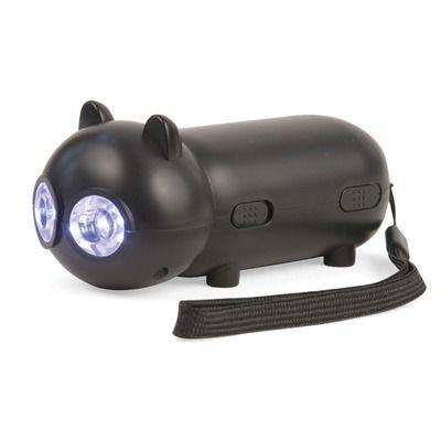 Kikkerland Black Cat Rechargeable LED Flashlight