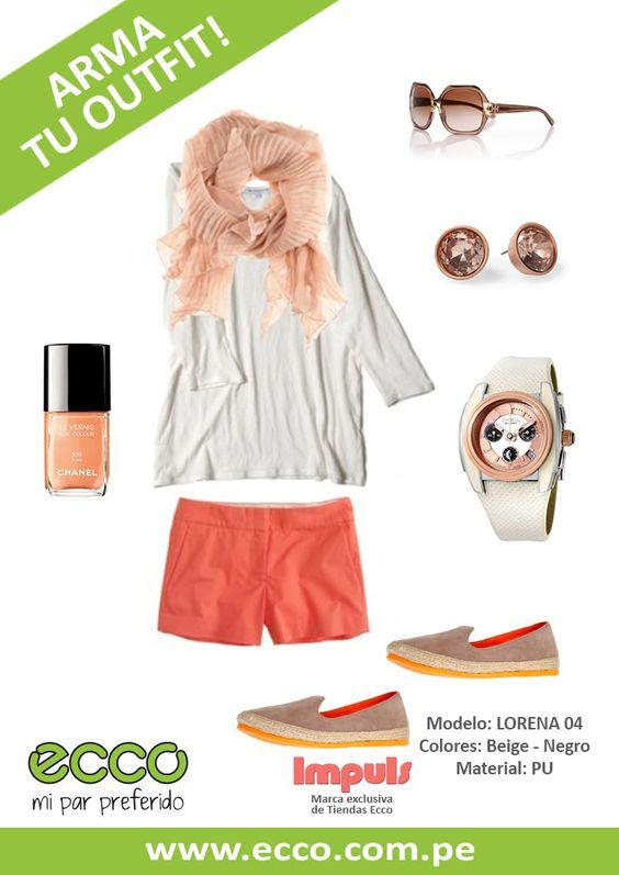 Te mostramos un outfit para usar tus Alpargatas Impuls ♥  Llena tu día de felicidad y sonrisas con estos lindos colores!!  Impuls es una Marca Exclusiva de Tiendas Ecco =)  Encuéntralas sólo en www.ecco.com.pe