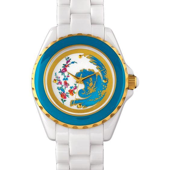 Bleu Céleste Floral Watch