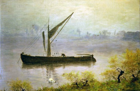 A Spring Morning on the Thames Posters & Art Prints by William John Hennessy - Magnolia Box: