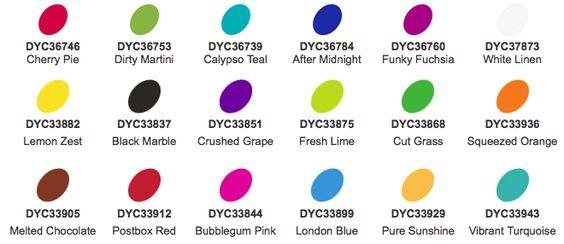 Dylusions Paint Colour Chart