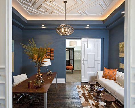 Warna Cat Dinding Ruang Tamu Biru Dongker Dengan Gambar Desain