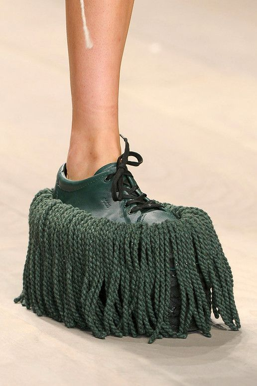 mop the floor and walk at the same time!!! weird shoes