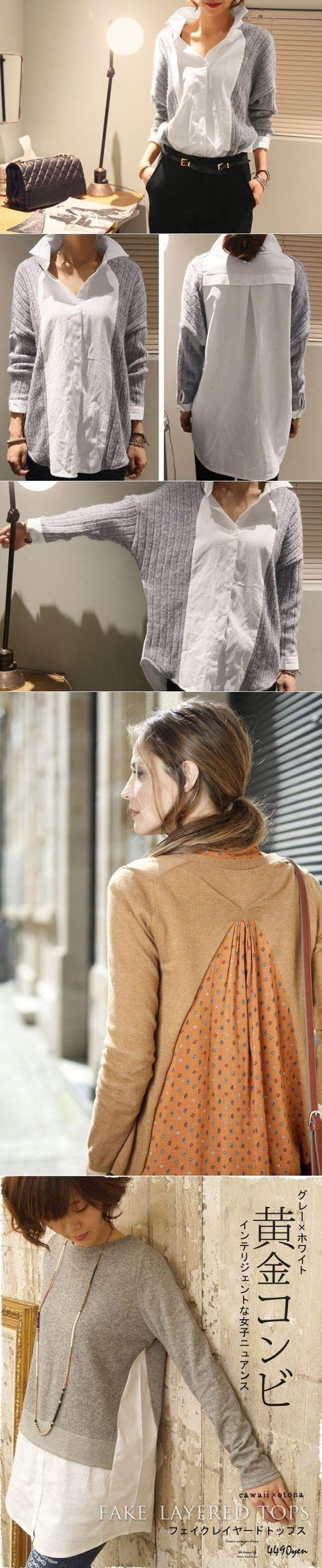 Скрестить свитер с блузкой (подборка) / Свитер или кардиган: вторая жизнь / Своими руками - выкройки, переделка одежды, декор интерьера своими руками - от ВТОРАЯ УЛИЦА: