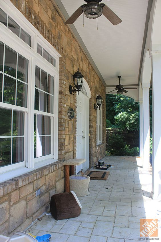 Front Porch Decorating Ideas: Fresh Red Paint For The