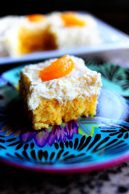 Yellow Cake With Mandarin Oranges Pineapple