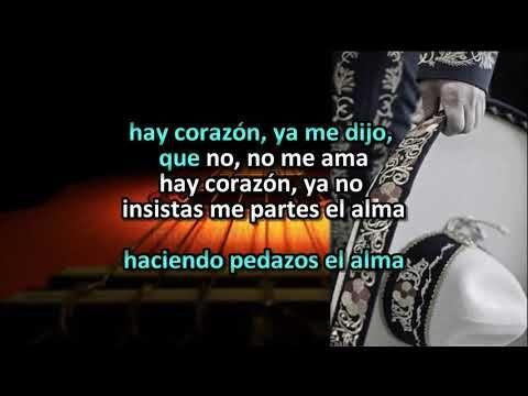 Ya No Insistas Corazon Vicente Fernandez Karaoke Para Rango Vocal Bajo Youtube Karaoke Rango Vocal Vicente Fernandez