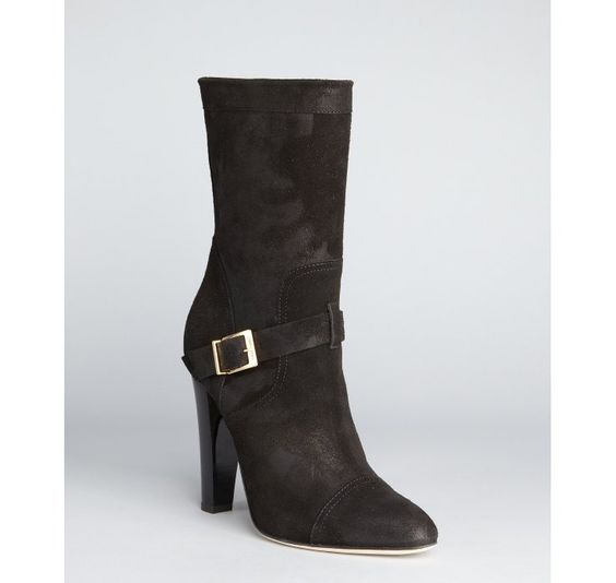 Jimmy Choo black suede 'Finch' buckle boots    why do i have such an expensive taste?