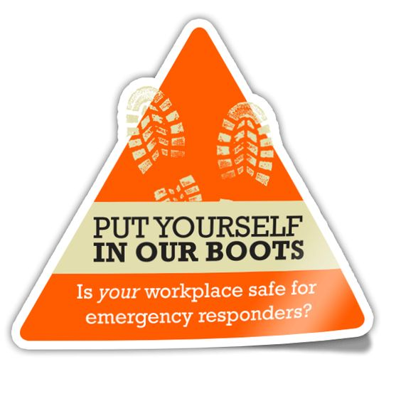 Logo for the Put Yourself in Our Boots campaign, which features a 10-minute safety video and public service announcements (PSAs). Learn more at www.ourboots.ca