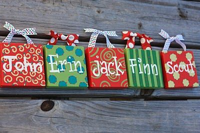 adorable canvas christmas ornaments.