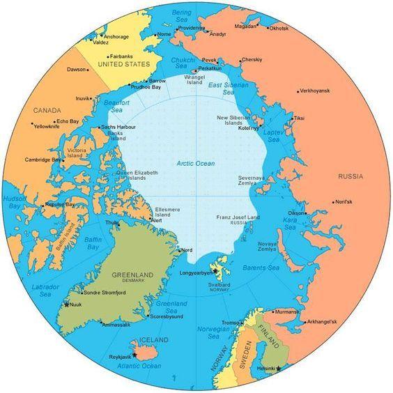 Arctic Circle Map Arctic Ocean Arctic Save The Arctic