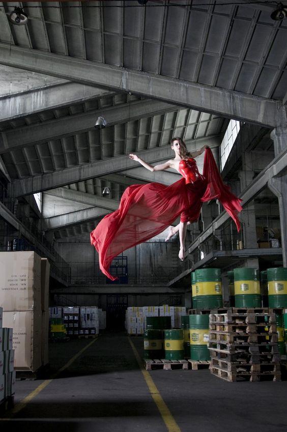 Antigravity, a photo series by Serbian photographer Mina Sarenac
