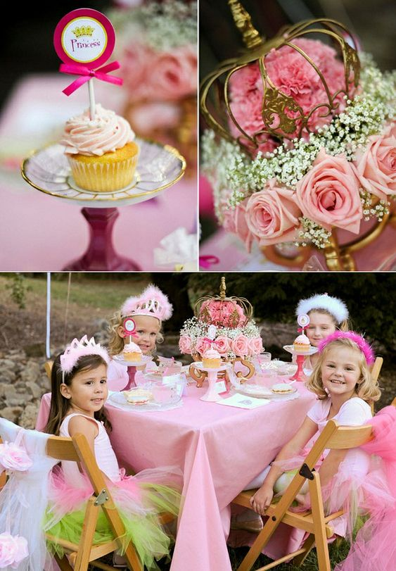 Princess birthday party ideas - LOVE this desserts table!