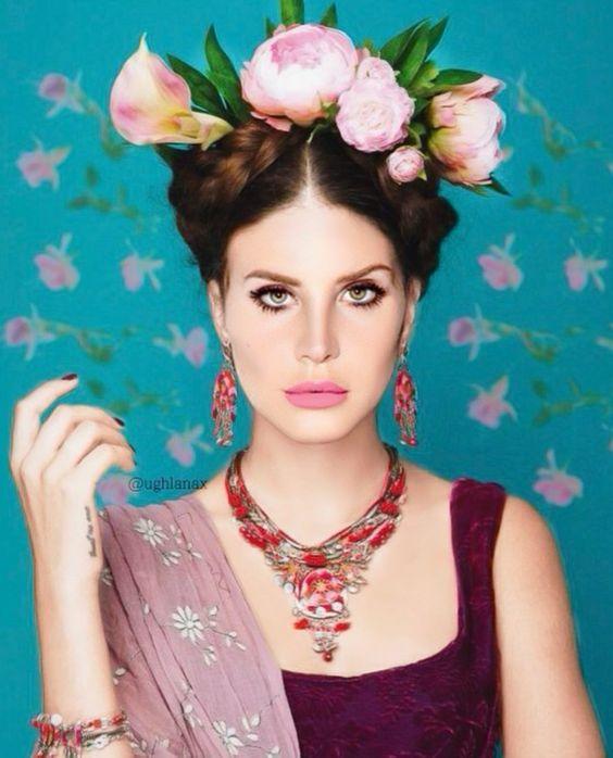 Lana Del Rey edit by @ughlanax #LanaDelRey #FridaKahlo