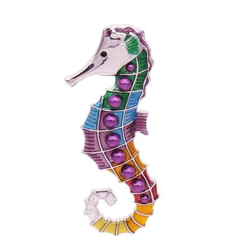 Wholesale Seahorse Brooch 12x Pack Animal Jewelry Animal Faces Animals