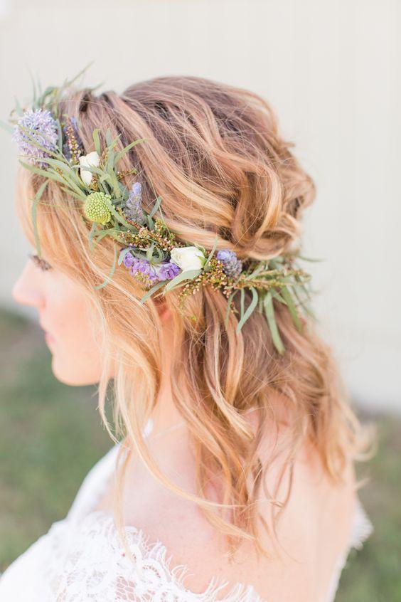 Jackson Hole Spring Wedding In 2020 Flower Crown Hairstyle Glamorous Wedding Hair Wedding Hair Flowers