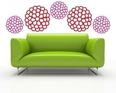 Large Flower Blossoms   Vinyl Wall Art Decal   Urban Expressions.