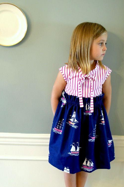 cute sailor dress tutorial