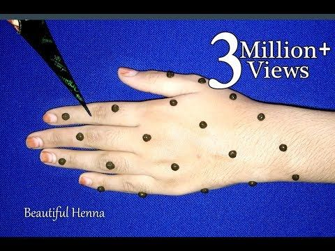 New Easy Full Hand Dots Mehndi Design Simple Mehndi Trick