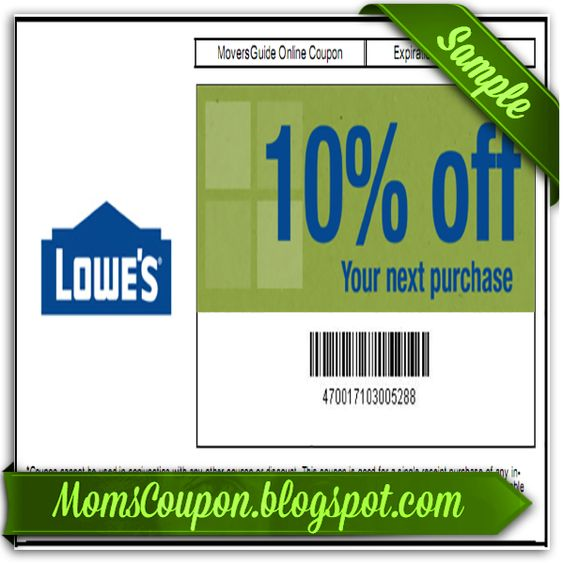 Online coupon codes for lowes