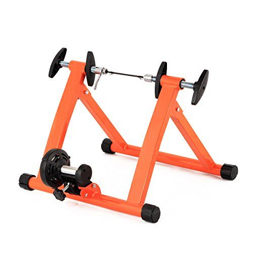 Esright Bike Trainer Bicycle Exercise Stand Magnetic Stand Orange For Sale Bicycle Workout Bike Trainer Bike