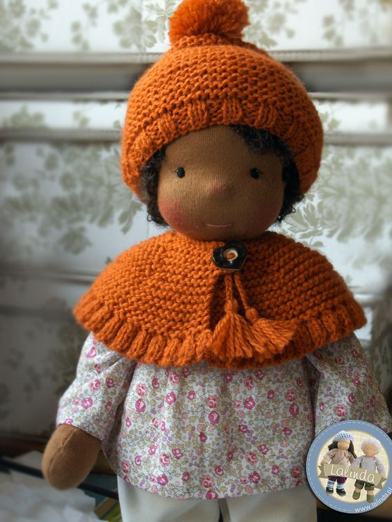 Sue - waldorf inspired cloth doll made by Lalinda.pl