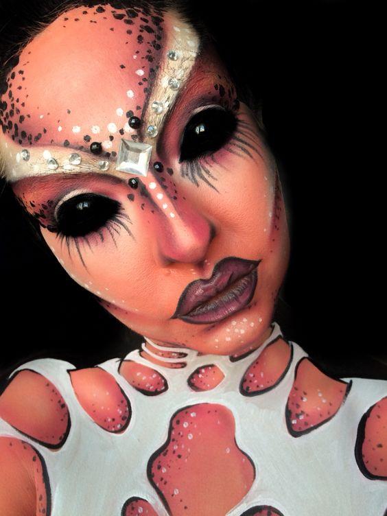 Pink Alien Makeup
