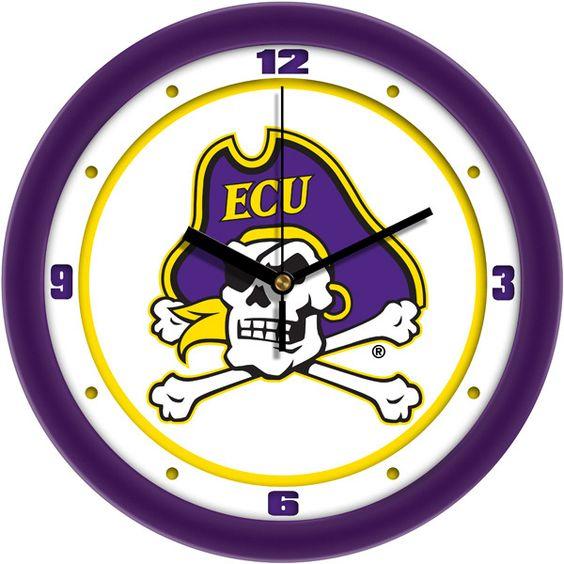 Mens East Carolina Pirates - Traditional Wall Clock