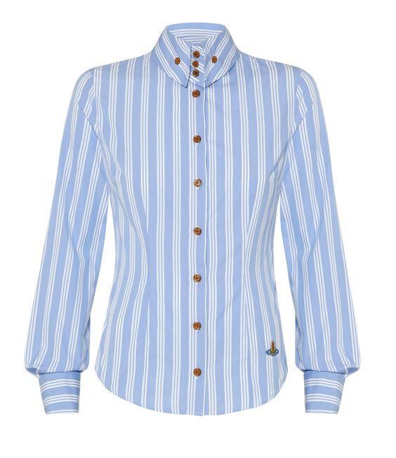 Light Blue Striped Krall Shirt #SS16