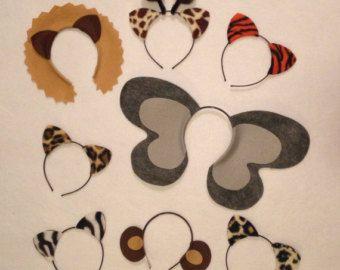 8 Dschungel Safari Zoo Tiere Thema Ohren Stirnband von Partyears