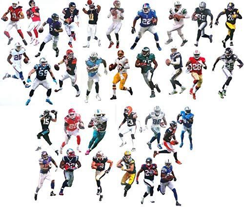 The Complete Set 32 Nfl Player Mini Fathead Vinyl Wall Graphics 7 Inch Each 1 Player Gra 32 Nfl Teams Team Online Nfl Teams