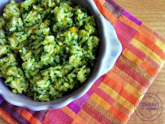 Telita na Cozinha: arroz de cenoura, courgette e espinafres