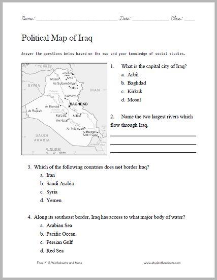 7th grade social studies worksheets pdf