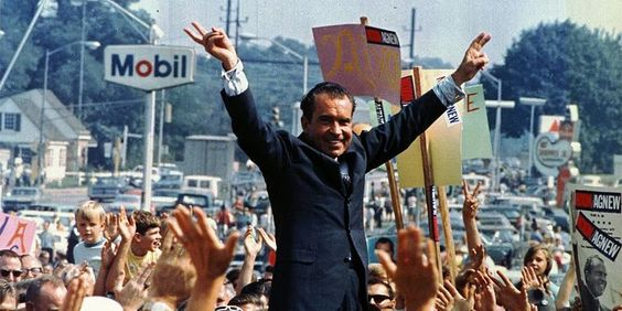 Richard Nixon campaigns in Philadelphia during the 1968 presidential election.