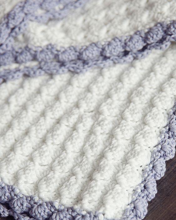 Vintage Chic Free Crochet Baby Blanket Pattern | Надо попробовать ...