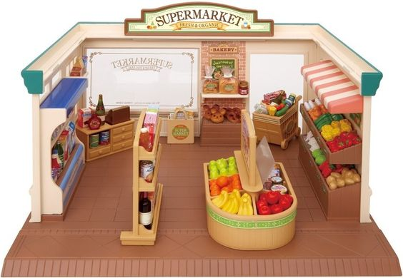 Calico Critters Supermarket Set / it's just so cute!