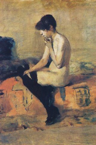 Etude de Nu de Henri Toulouse-Lautrec: