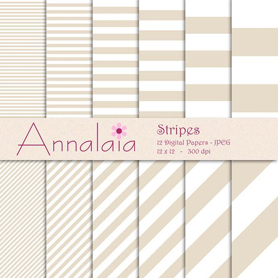 INSTANT DOWNLOAD Digital Paper Pack Bone Beige White by annalaia2, $3.00