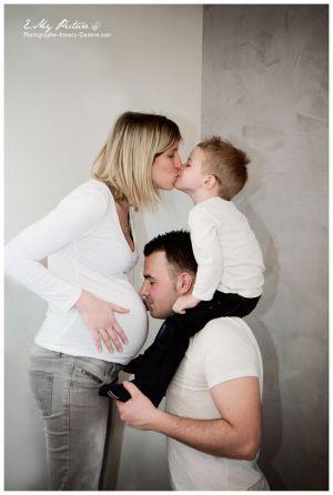 Dame de famille femme enceinte